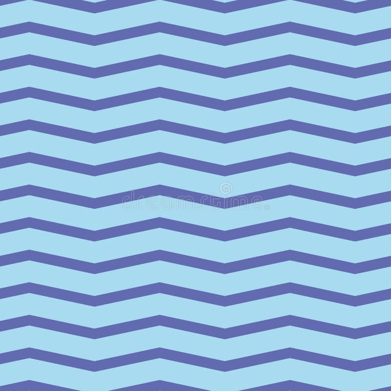 seamless sparremodell Färgrik purpurfärgad sicksack på ljus - blå bakgrund royaltyfri bild