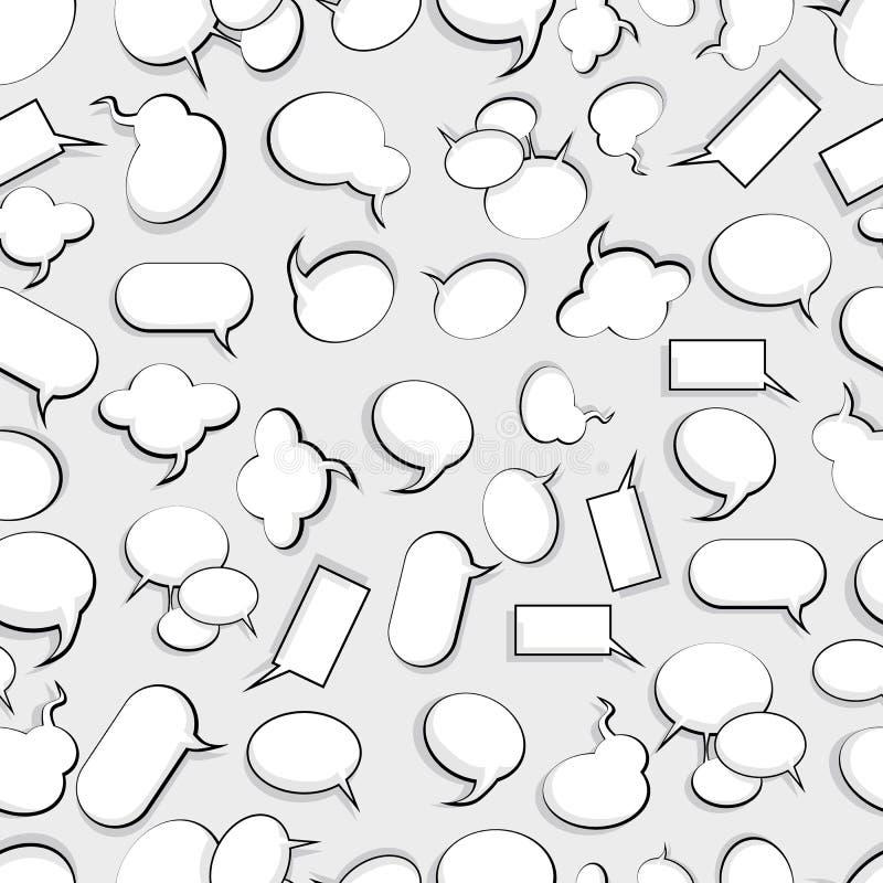 Seamless speech bubbles background stock illustration