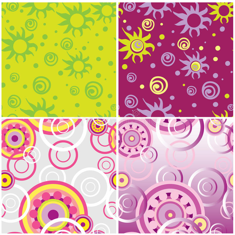Download Seamless spin backgrounds stock vector. Image of wallpaper - 13876348