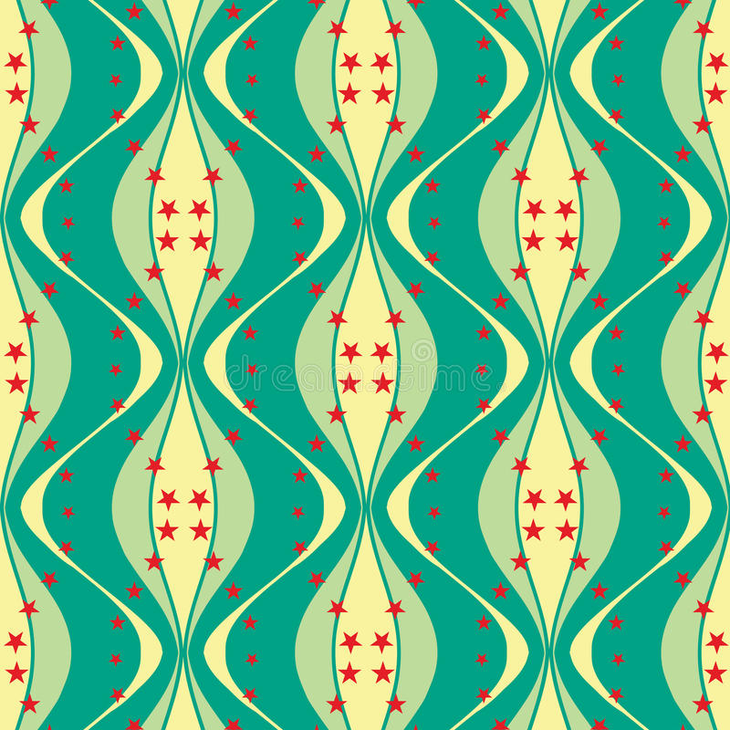 Seamless spindle-shaped pattern with stars. May be useful for print, fabric, wrapping, packing, tapestry, craftsmanship, scrap-booking vector illustration