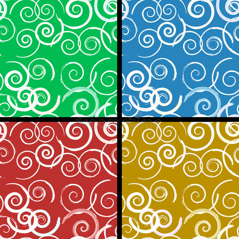 Download Seamless spiral pattern stock vector. Illustration of ornament - 23125599