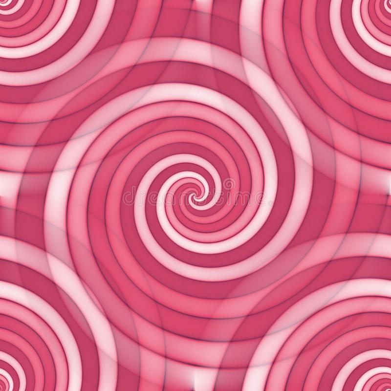 Seamless spiral pattern background in pink. Spectrum royalty free illustration