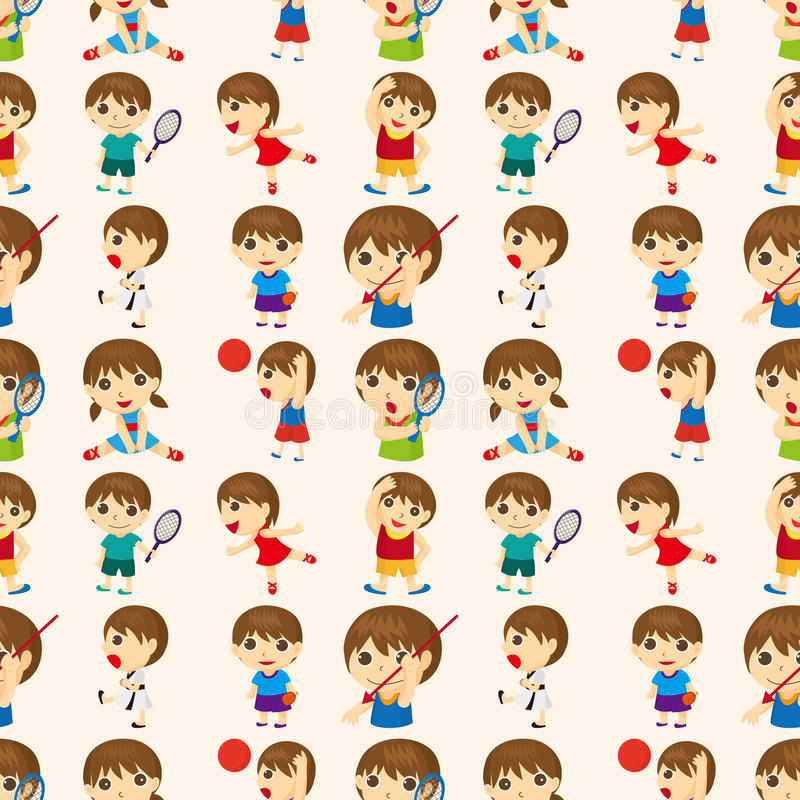 Download Seamless Sport People Pattern Stock Vector - Illustration: 27955317