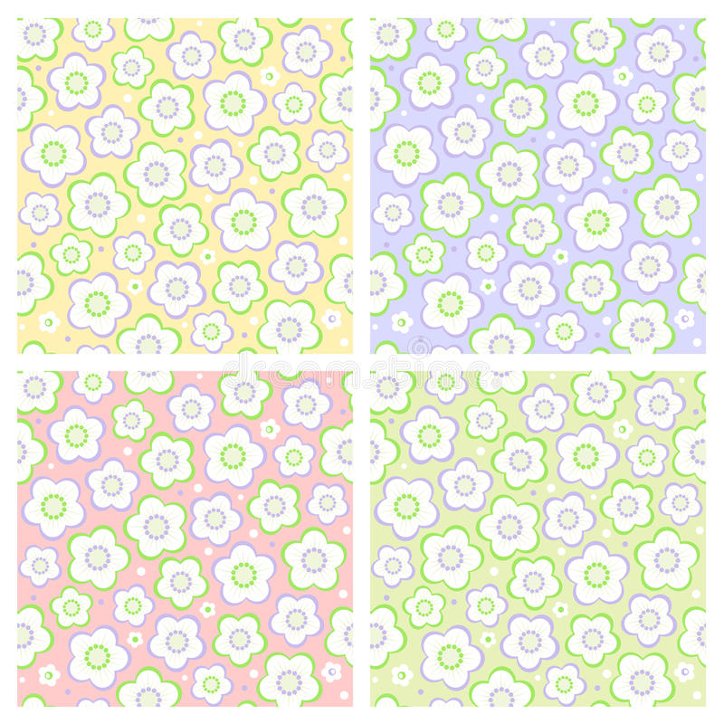 Seamless Spring Floral Patterns Royalty Free Stock Images