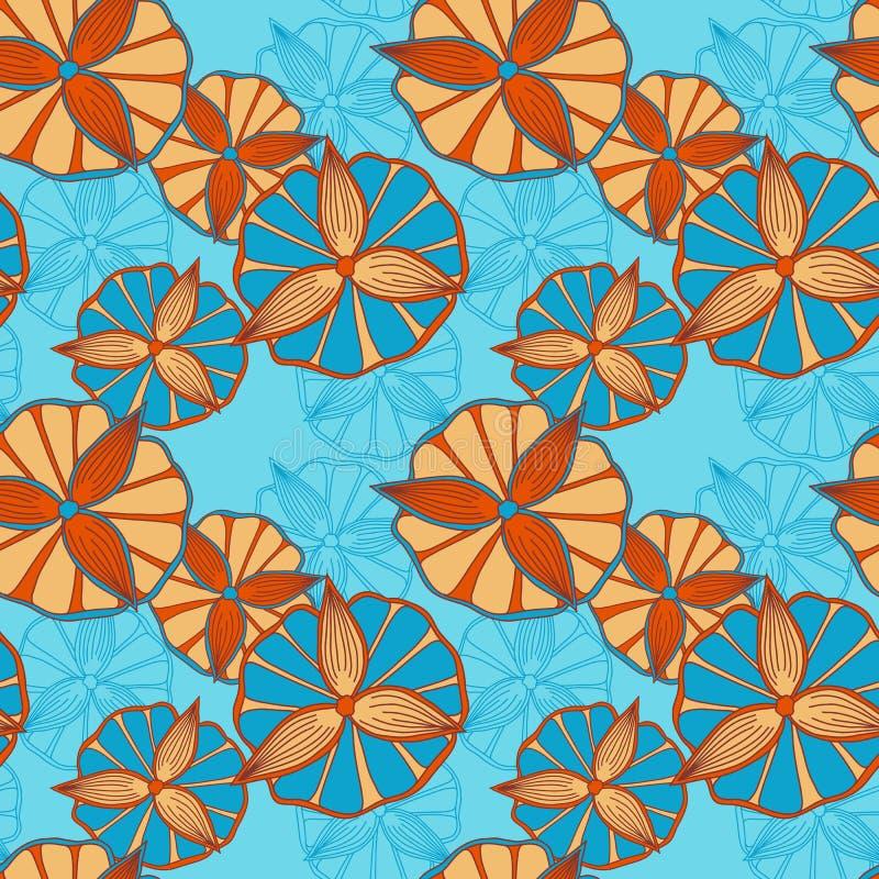 Seamless spring pattern royalty free illustration