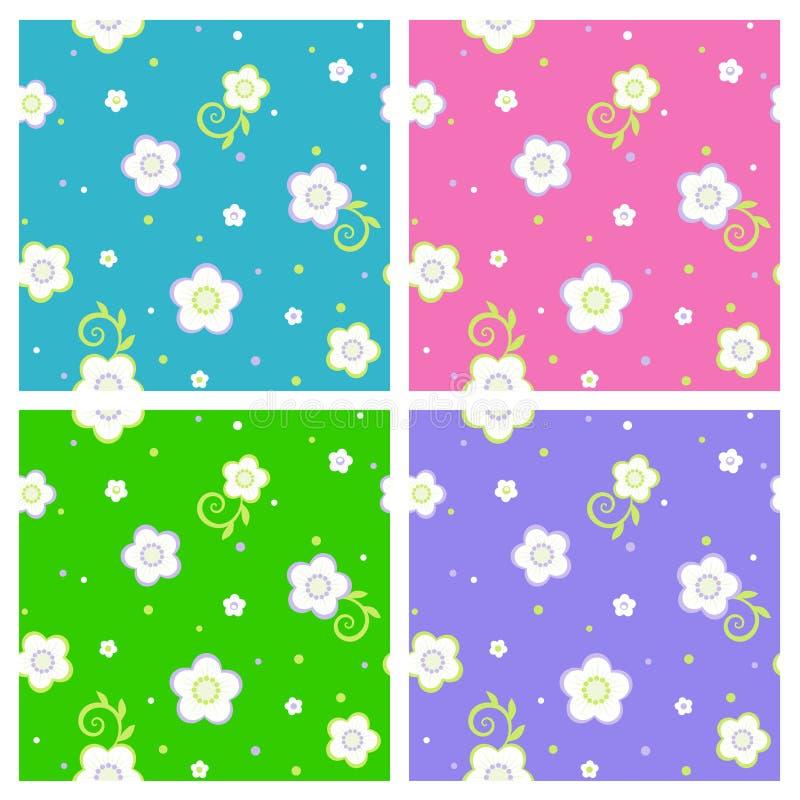 Seamless spring or summer floral patterns royalty free illustration
