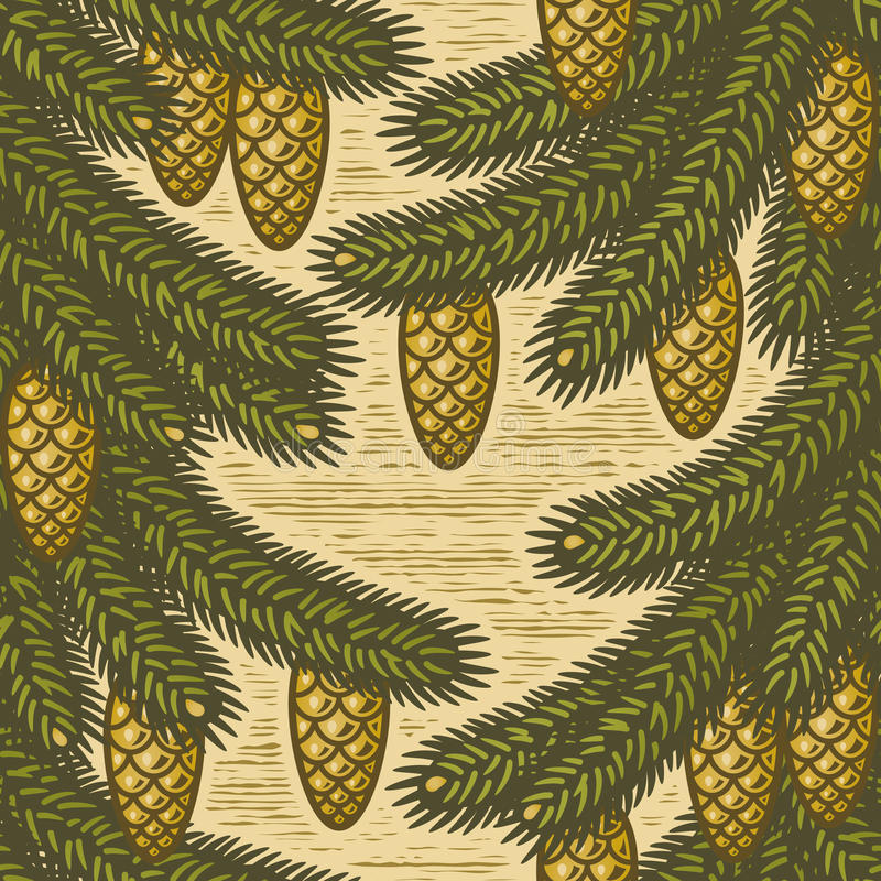 Seamless spruce background royalty free illustration