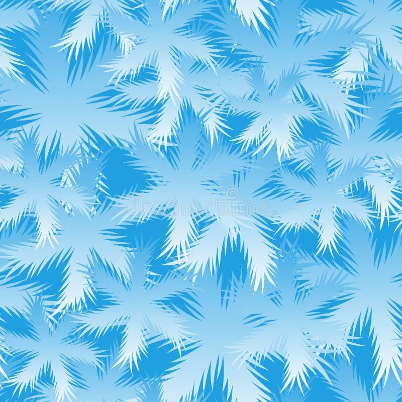 Seamless Spruce Snowflake Pattern royalty free stock photos