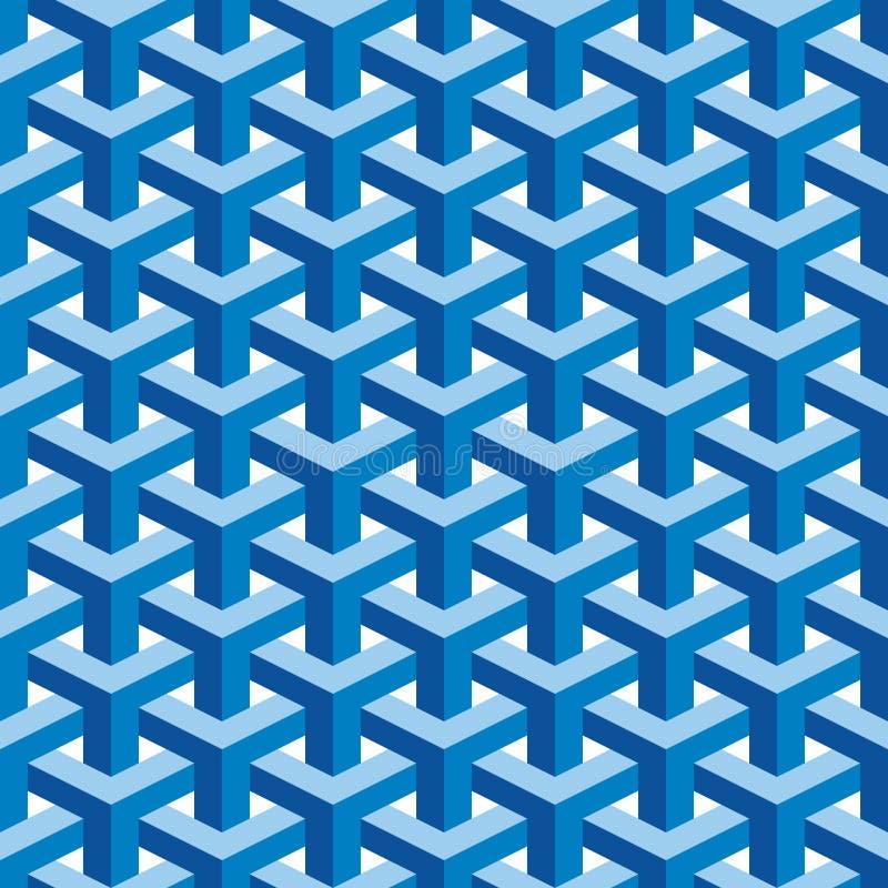 Seamless Escher Pattern stock illustration