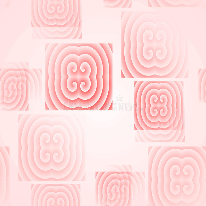 Seamless square pattern pink blurred stock image