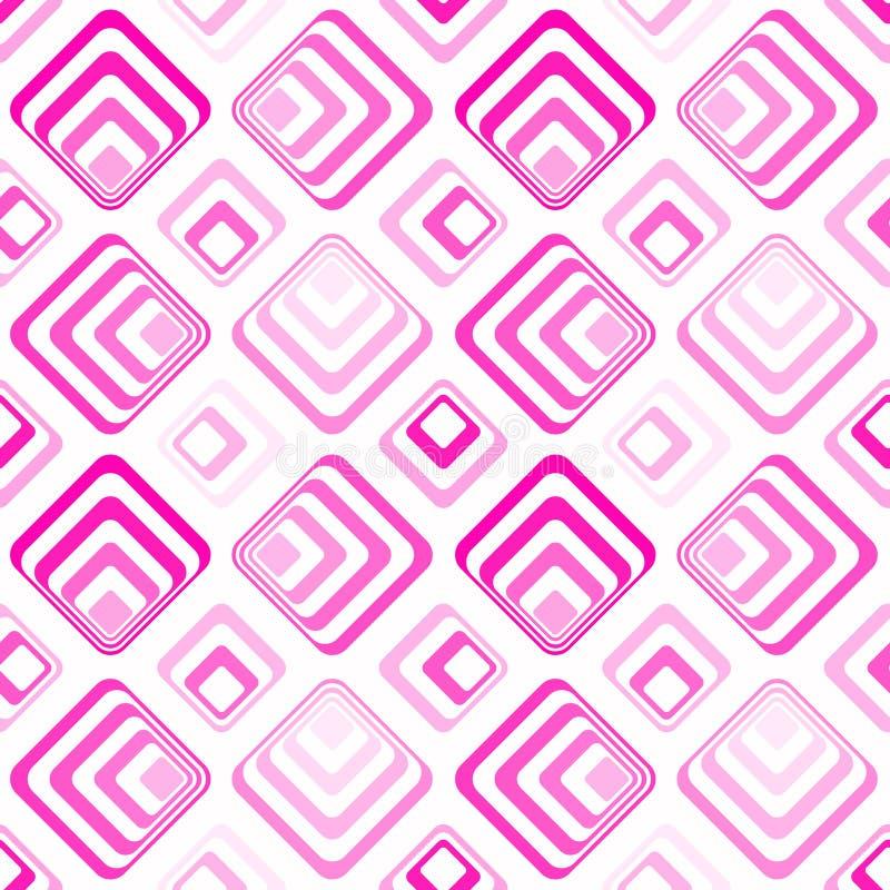 Seamless squares geometric pattern pink vector illustration