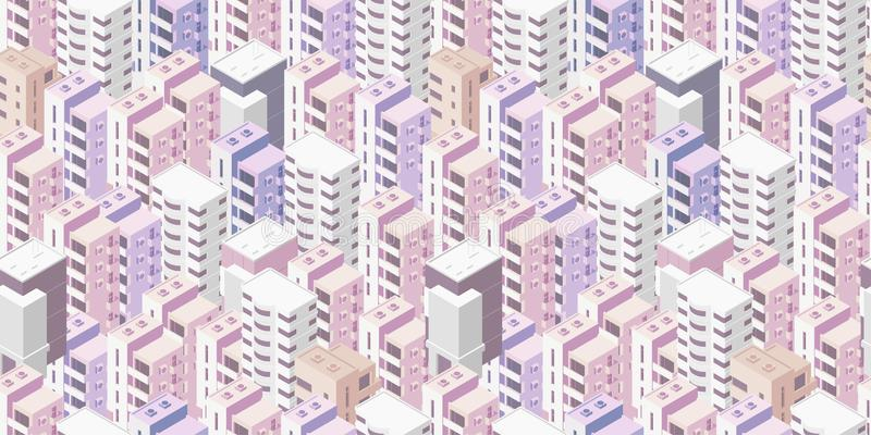 seamless stadsmodell E r Vektorillustrationmateriel royaltyfri illustrationer