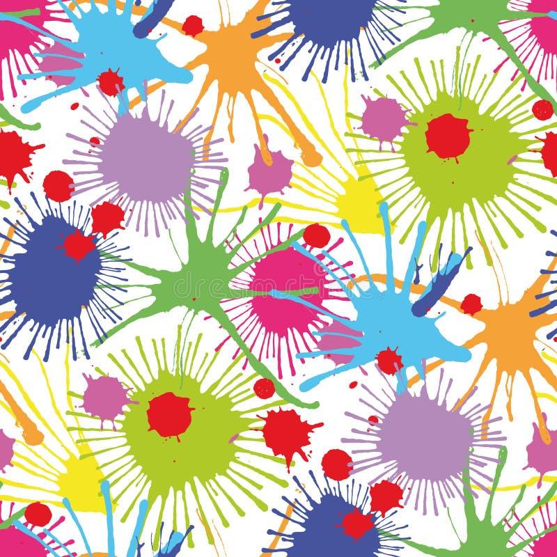 Seamless stain pattern III stock illustration