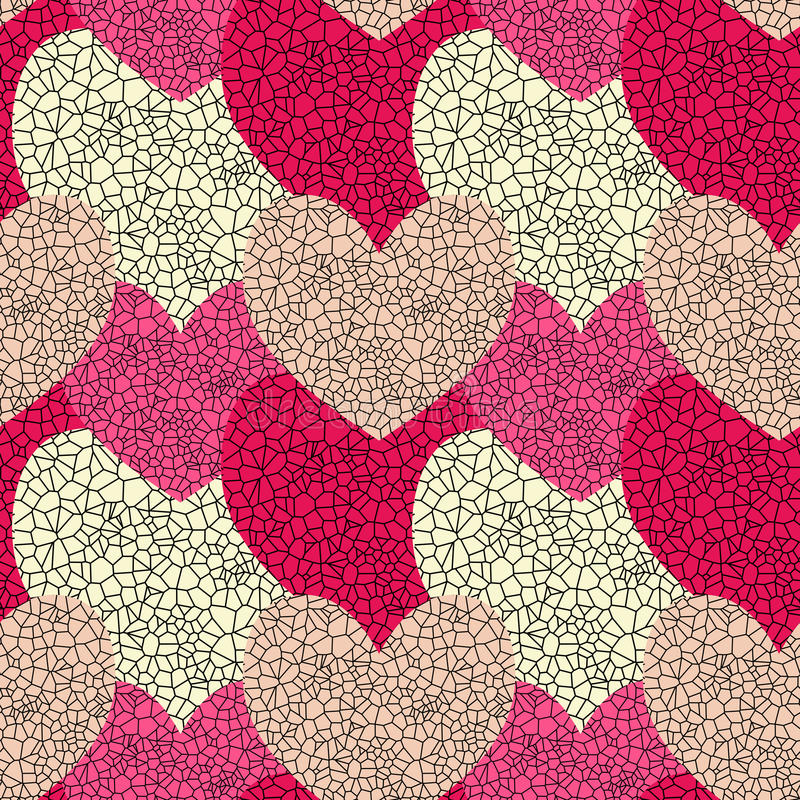 Download Seamless Stained Glass Hearts Royalty Free Stock Photography - Image: 24439957