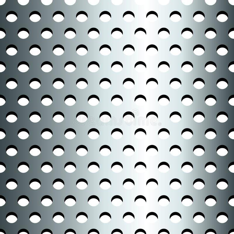 Seamless Stainless Metallic Grid Pattern Stock Photo