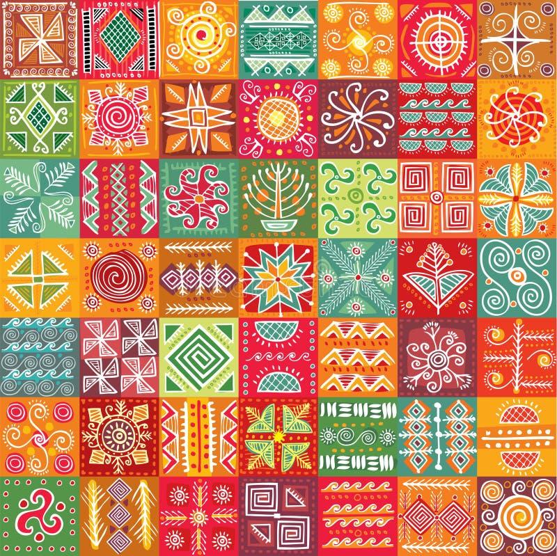 Seamless stam- texturerar royaltyfri illustrationer