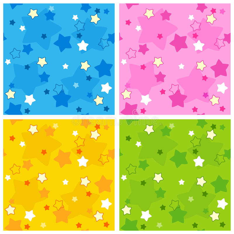 Download Seamless star pattern stock vector. Image of blue, paper - 17179094