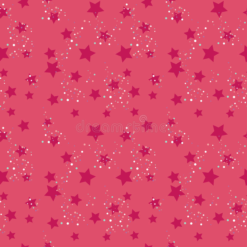 Download Seamless star pattern stock vector. Illustration of pink - 27963806