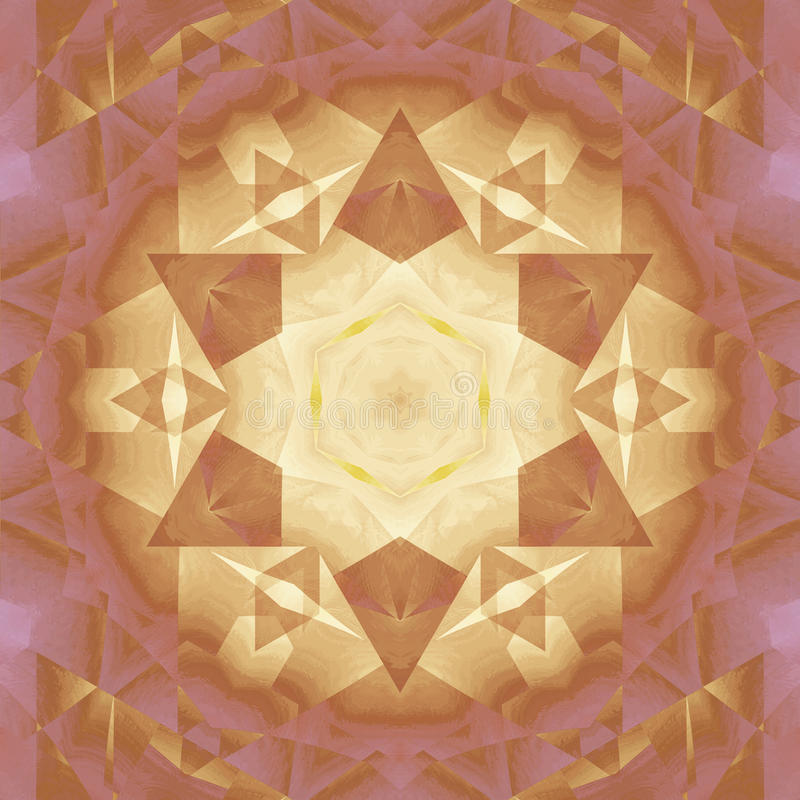 Seamless star pattern brown gold violet stock photo