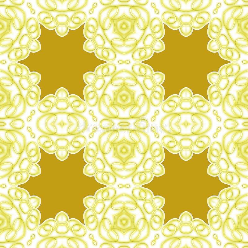 Seamless star pattern golden white royalty free stock image