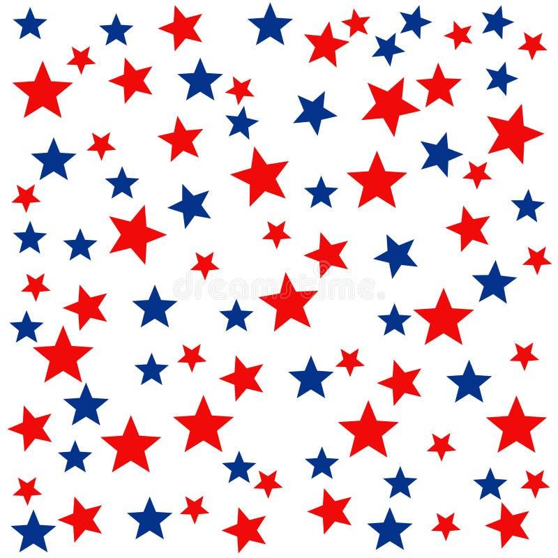 Seamless star pattern stock illustration