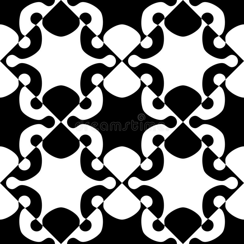 Seamless Star Pattern. Vector Black and White Background vector illustration
