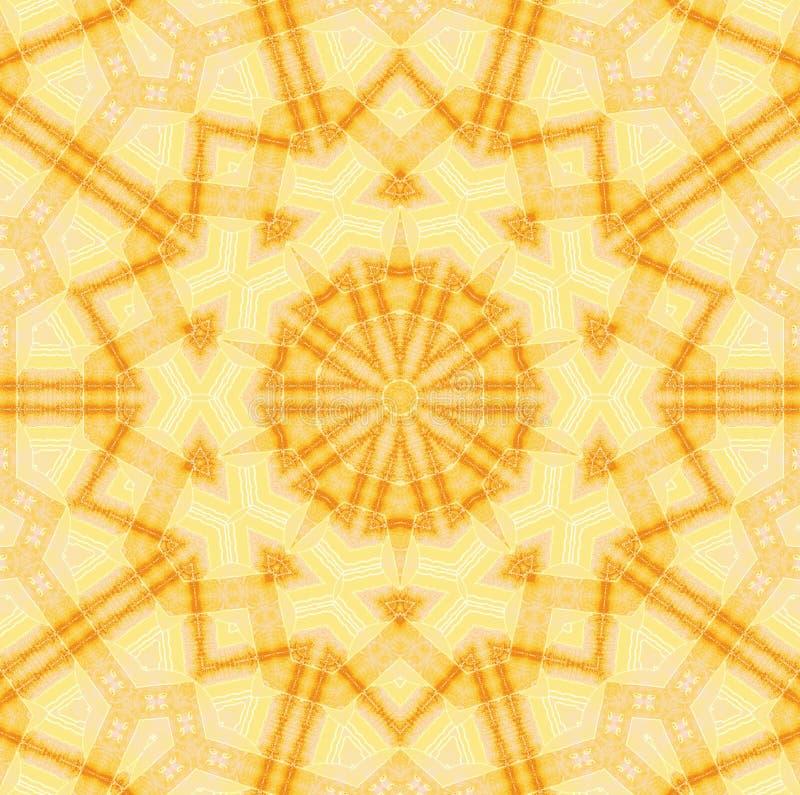 Seamless star pattern yellow brown stock photos