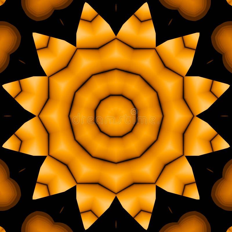Seamless star pattern yellow gold black shiny stock photography