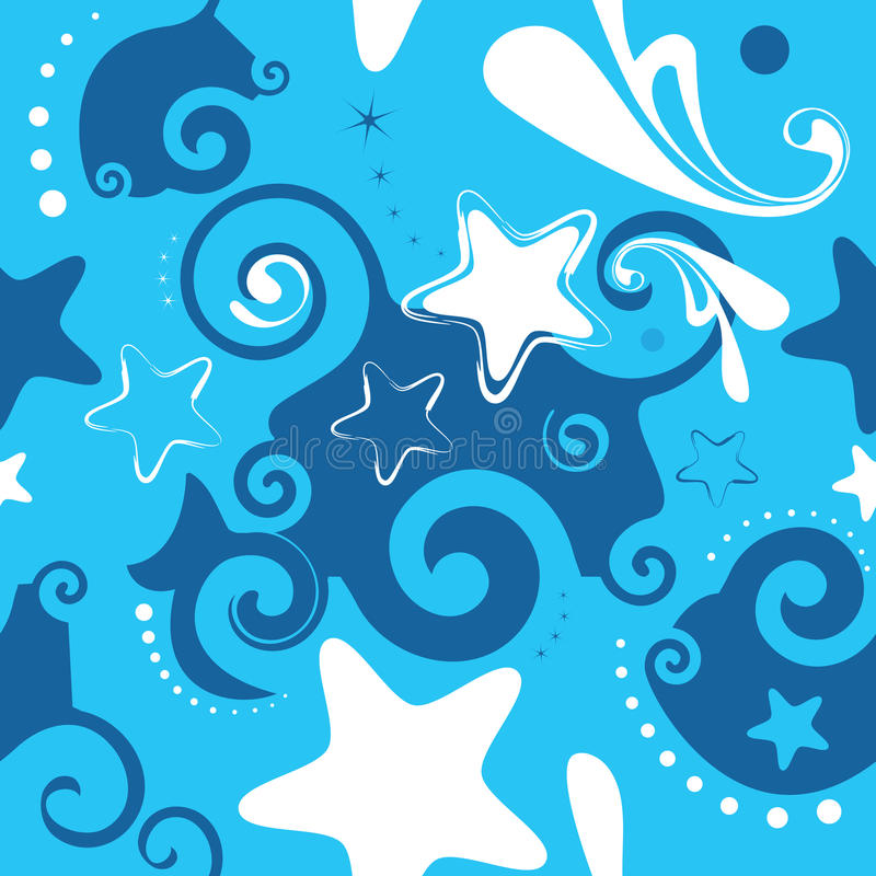 Download Seamless stars background stock vector. Image of decorative - 26716618