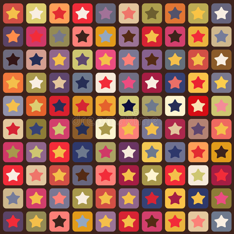Seamless stars colorful pattern. Texture, wallpaper royalty free illustration