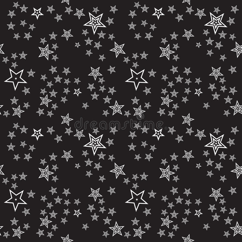 Seamless stars pattern background. Editable color background royalty free illustration