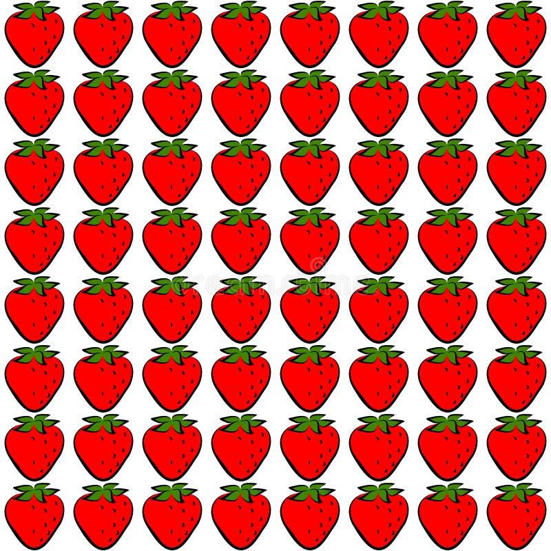 Seamless stawberry stock illustration
