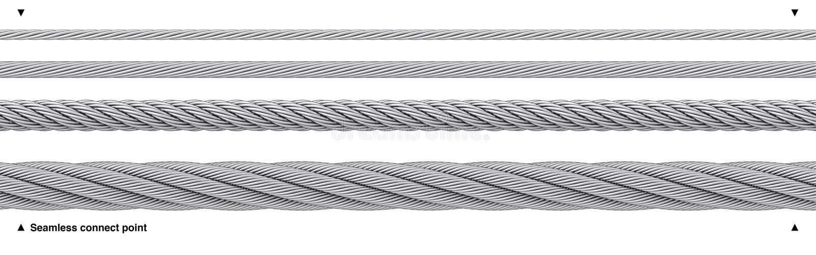 Seamless Steel Cable Repeatable Wire Rope Stock Image - Illustration ...