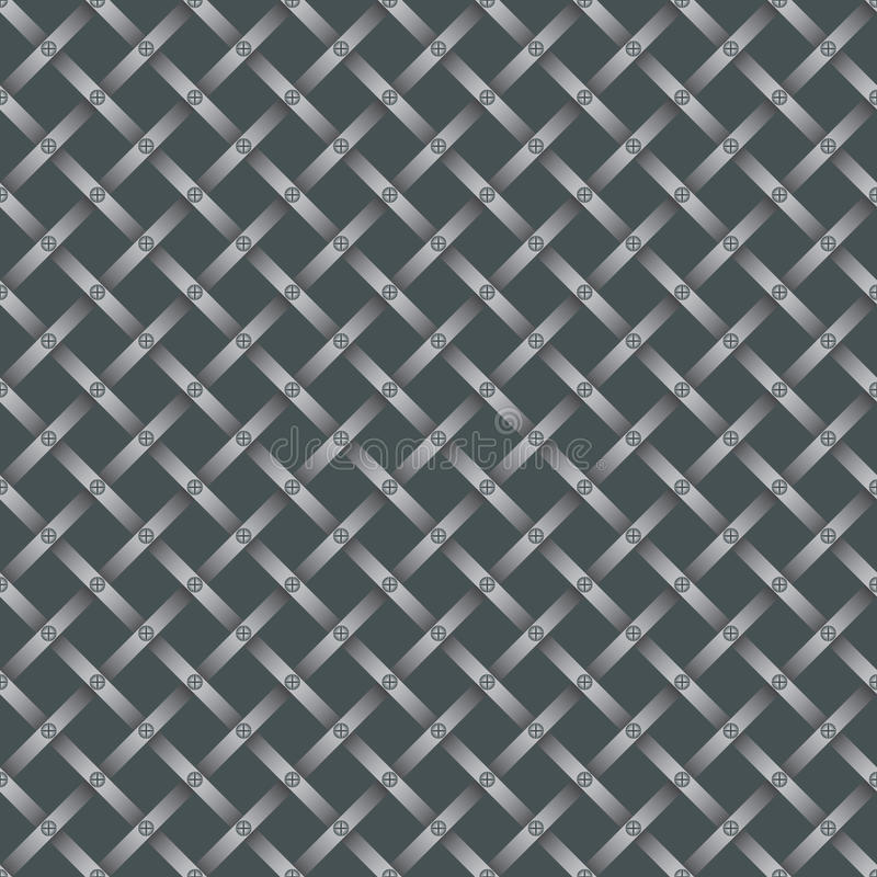 Seamless Steel Grating Pattern Royalty Free Stock Photos