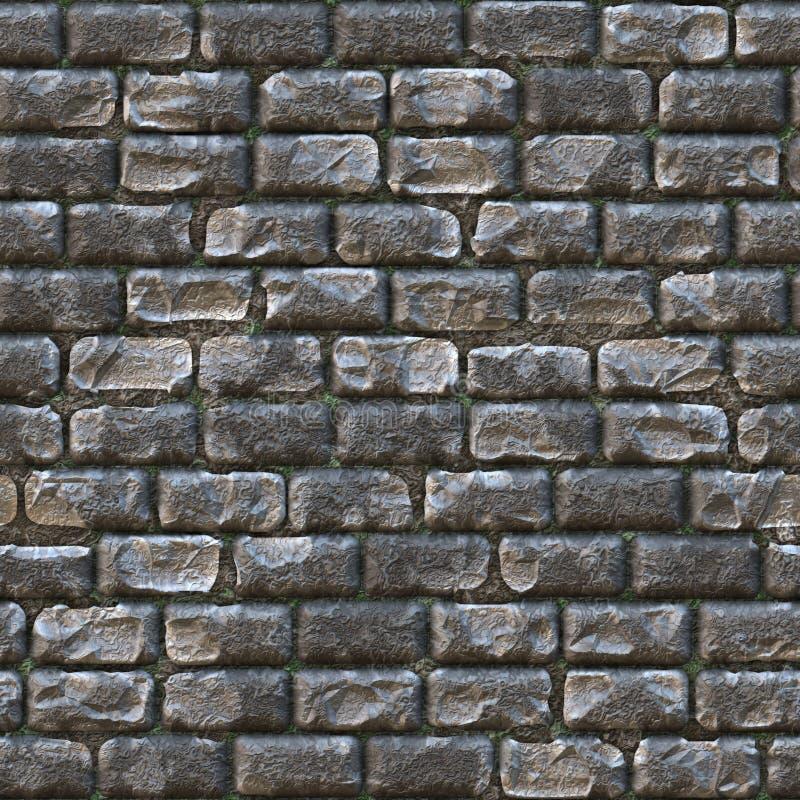 seamless stenvägg för tegelsten stock illustrationer