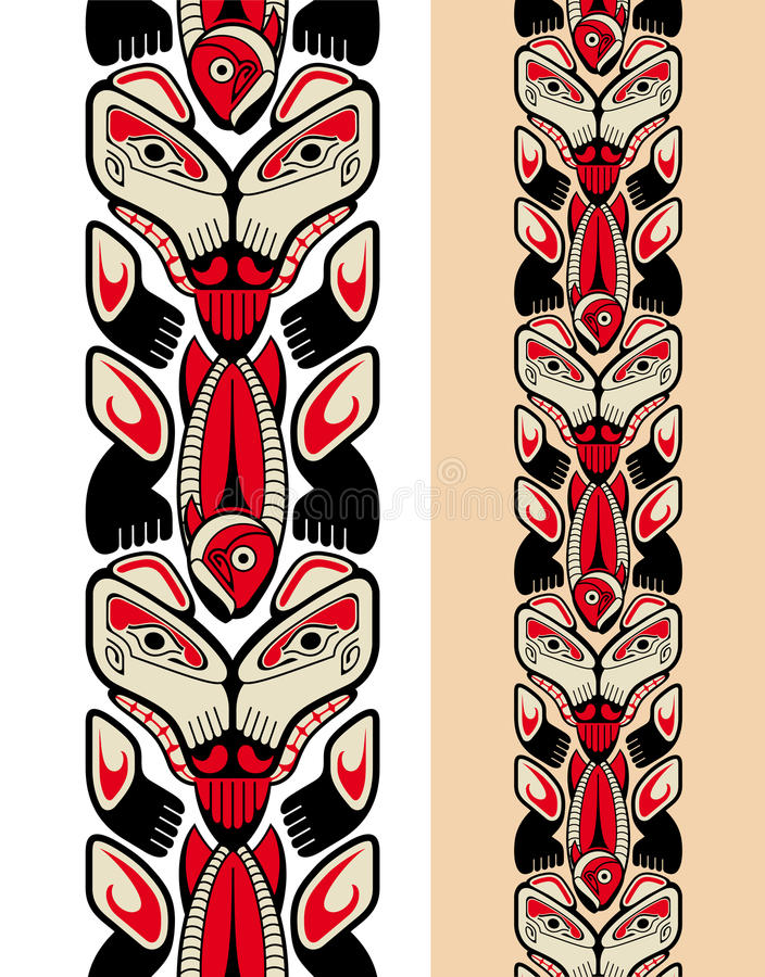 seamless stil för haidamodell royaltyfri illustrationer