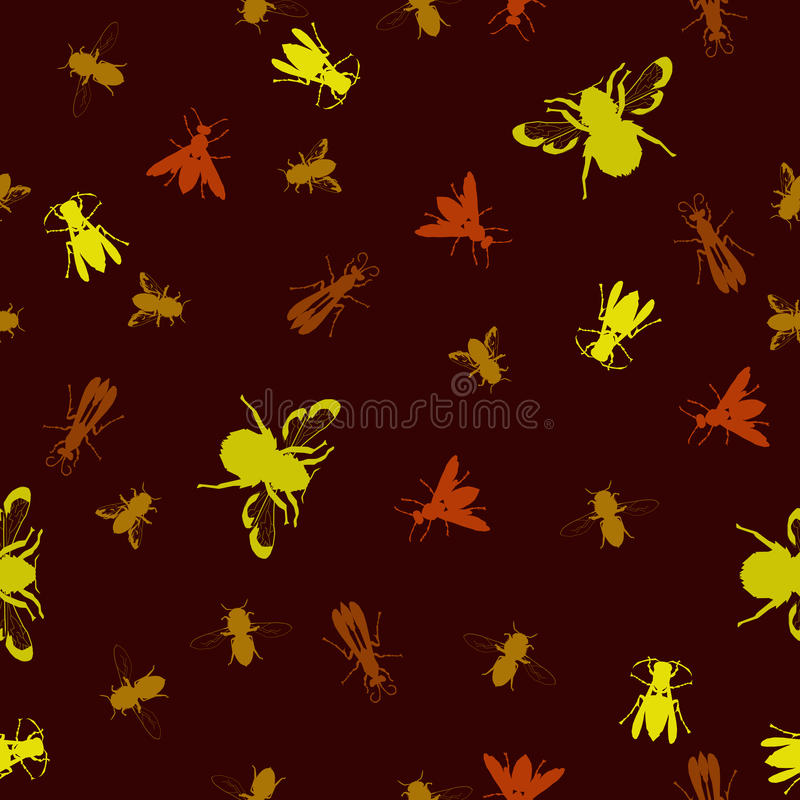 Download Seamless Stinging Insect Background Stock Vector - Image: 13795539