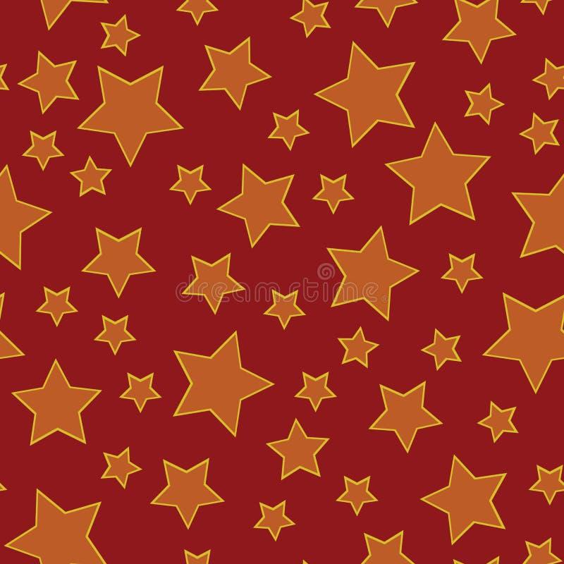 seamless stjärna för bakgrund stock illustrationer
