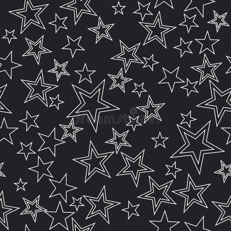 seamless stjärnor för bakgrund royaltyfri illustrationer
