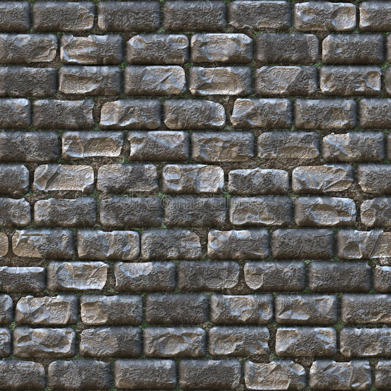 Seamless Stone Brick Wall Stock Photo