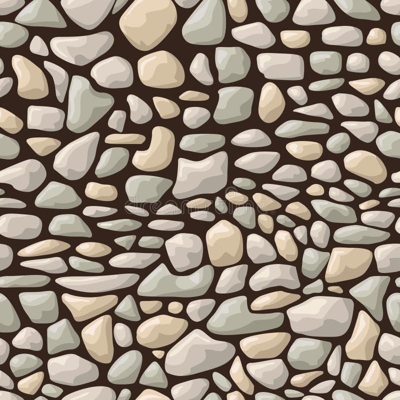 Seamless stone pattern. Vector illustration of seamless stone pattern vector illustration
