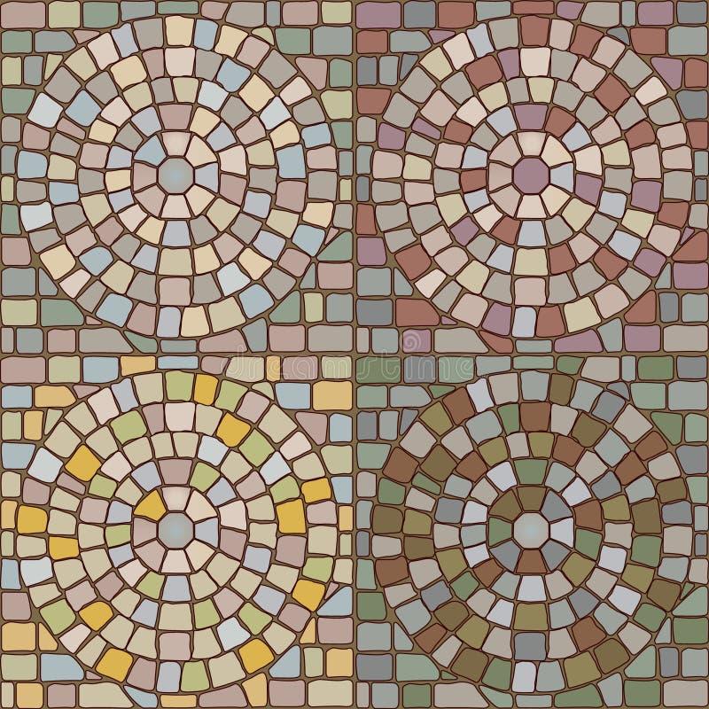 Seamless stone patterns. Vector illustration of seamless stone pattern in four color variants vector illustration