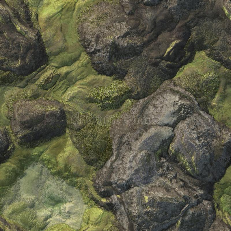 Seamless Stone Terrain Background royalty free illustration