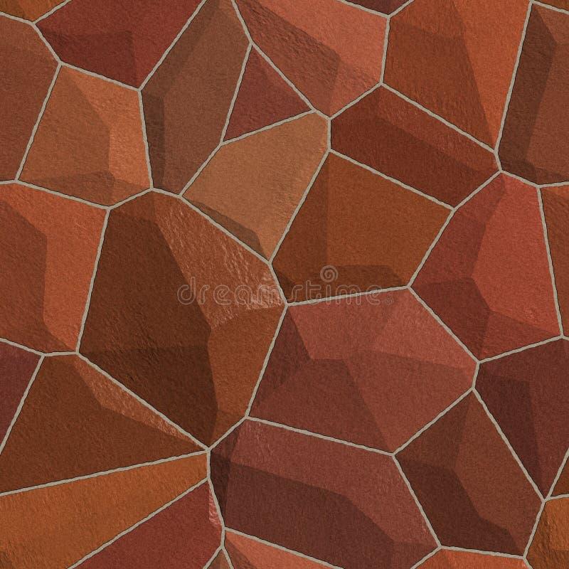 Seamless Stone wall texture vector illustration