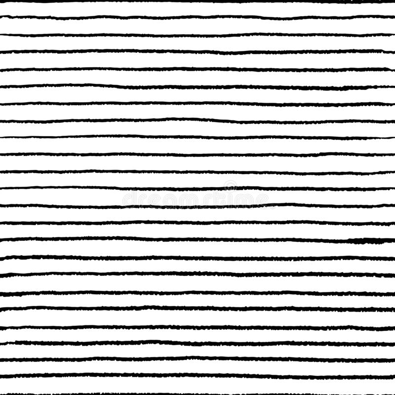 Seamless stripe doodle pattern. Wavy linear doodle water brush, hand drawn abstract grunge elements. Vector doodle lines vector illustration