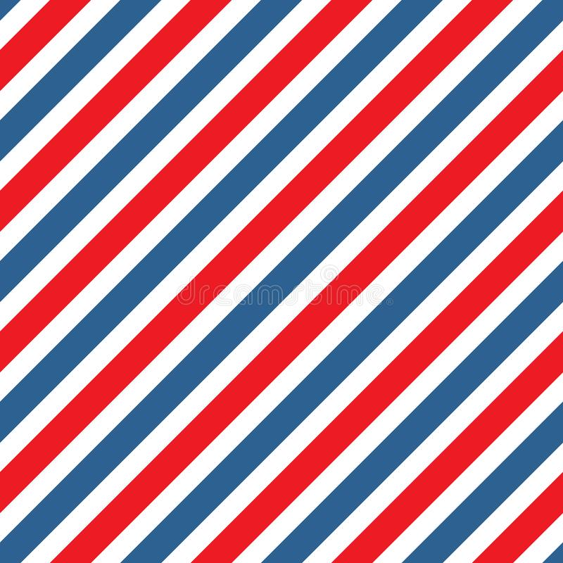 Seamless stripe pattern background in red and blue stock illustration
