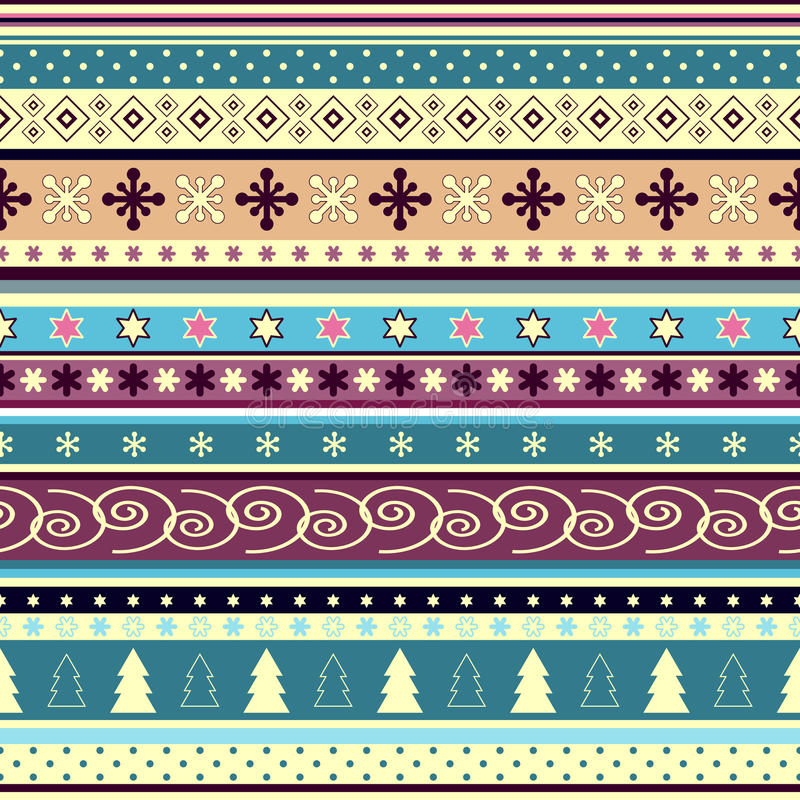 Seamless striped christmas wallpaper royalty free stock photography