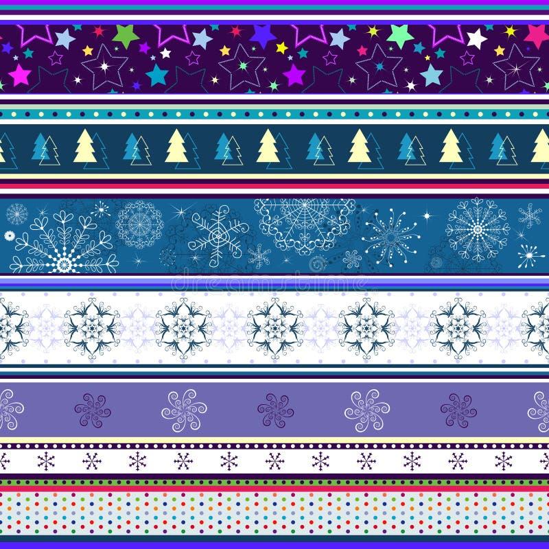 Seamless striped christmas wallpaper royalty free stock image