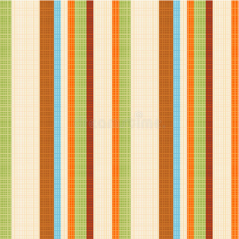 Seamless striped fabric pattern royalty free illustration