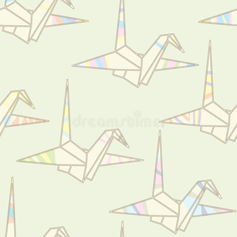 Download Seamless Striped Origami Pattern Stock Vector